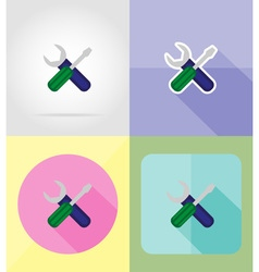 Service flat icons 15 vector