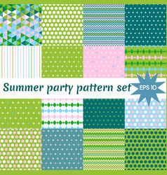 Set of summer pattern collection vector