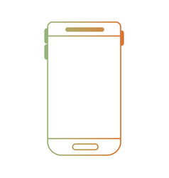 Smartphone device icon in degraded green to red vector