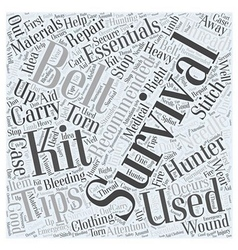 survival tips for hunters dlvy nicheblowercom Word vector image vector image