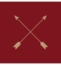 The arrow icon arrows symbol flat vector