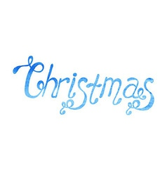 Watercolor Christmas type vector image