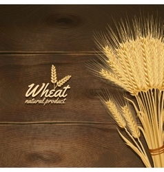 Wheat on wooden table vector
