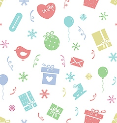 Winter holidays pattern 2 vector image vector image