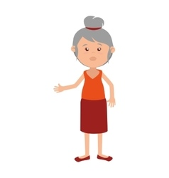 woman cartoon isolated design vector image