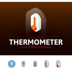 Thermometer icon in different style vector