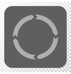 Rotation rounded square button vector