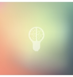 lightbulb icon on blurred background vector image