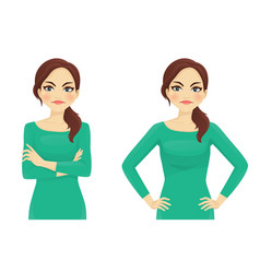 Woman angry emotion vector