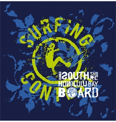 Surfing contest vector