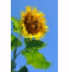 Sunflower decorative vector