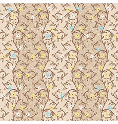 Pattern floral dots vector