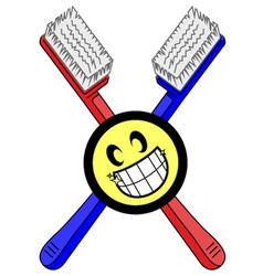 Toothbrush symbol vector