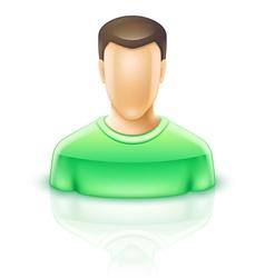 User man vector image