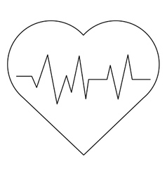 Heart carton pulse vector