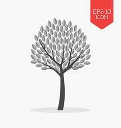 Tree icon flat design gray color symbol modern ui vector