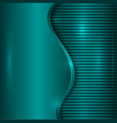 abstract turquoise background with curve and vector image vector image