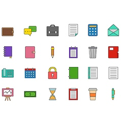 Accounting colorful icons set vector image vector image