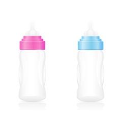 baby bottle 04 vector image vector image