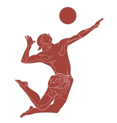 Beach volley player vector