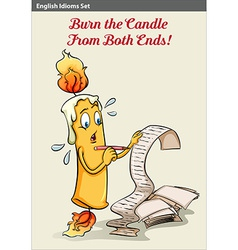 Burning the candle from both ends vector