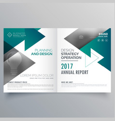 Business bifold brochure design made with vector