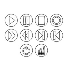 Buttons icon set vector