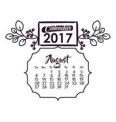Calendar of 2017 year design vector