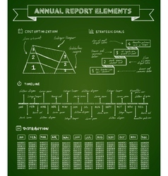 Chalkboard infographics elements vector image