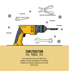 construction tools infographic vector image vector image