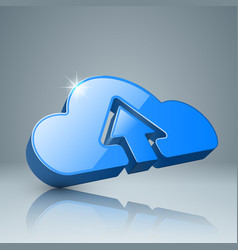 Download cloud arrows icon vector