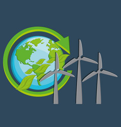 eco friendly icons image vector image