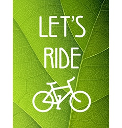 ecology bicycle poster vector image vector image
