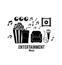 Entertainments icons design vector