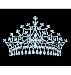 Feminine wedding tiara crown with tassels vector