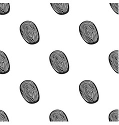 fingerprint icon in black style isolated on white vector image