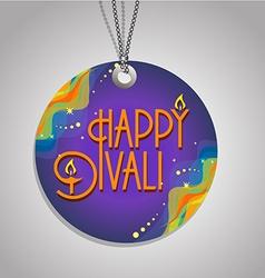 Happy diwali label vector