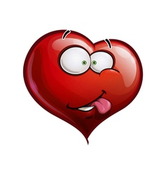 Heart faces happy emoticons i really like you vector