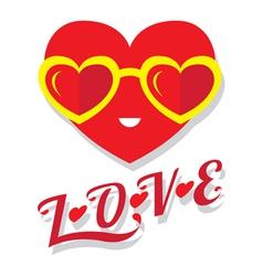 Heart shape wear heart shape glass vector