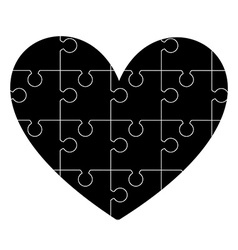 hearth puzzle vector image