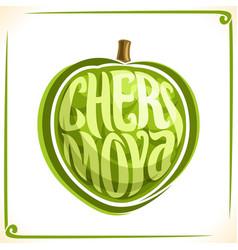 Logo for cherimoya fruit vector