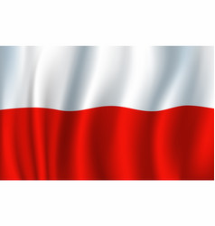 poland 3d flag background national symbol vector image vector image