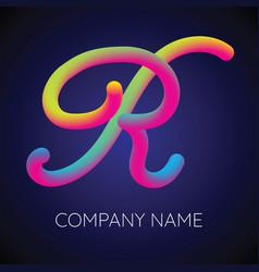 r letter logo icon blending color vector image vector image