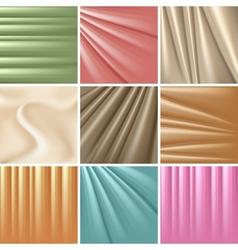 Set of 9 satin backgrounds vector image vector image