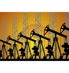 The oil industry vector image