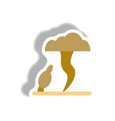 Tornado sticker vector