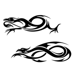 Tribal dragons vector