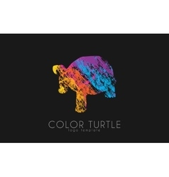 Turtle logo design color turtle creative logo vector