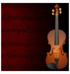 violin background vector image