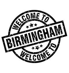 welcome to birmingham black stamp vector image vector image